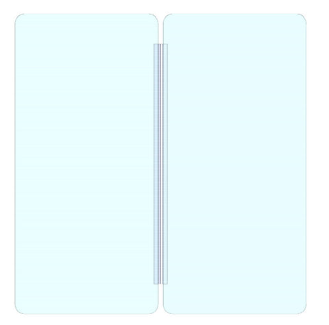 Bi Fold Sneeze Guard 30x(15.5+15.5), Clear Acrylic Plexiglass Shield for Counters, Barrier Against Coughing & Sneezing