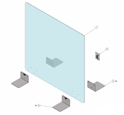 "Protective Sneeze Guard, Clear Acrylic Plexiglass Barrier 30"" x 30"" partition"