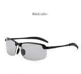 Photochromic Sunglasses with Polarized Lens for Outdoor 100% UV Protection, Anti Glare, Reduce Eye Fatigue.
