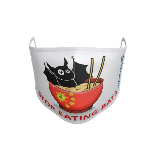 Anti-Microbial Mask – Stop Eating Bats