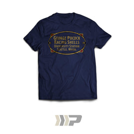 Built-By Badge T-Shirt (Navy Blue)