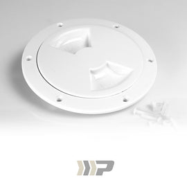 Screw Out Deck Plate, White
