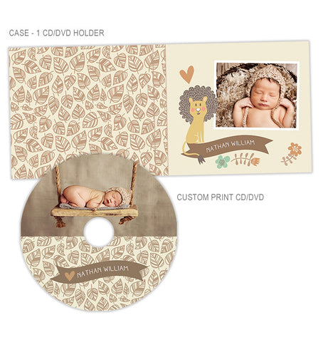 Personalized CD + CD Case | Cute Lion