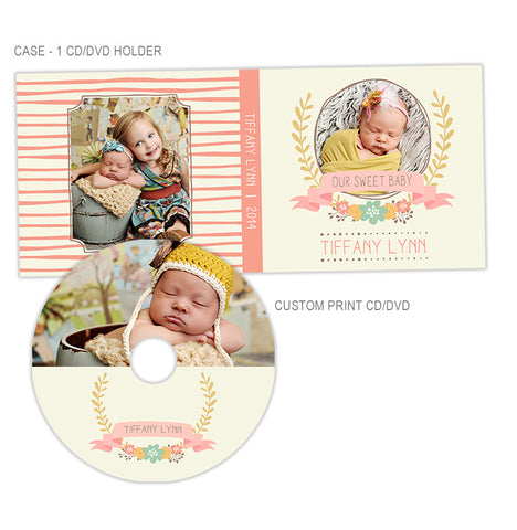 Personalized CD + CD Case | Our Sweet Baby