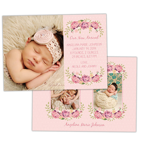 Birth Announcement | Precious Pink