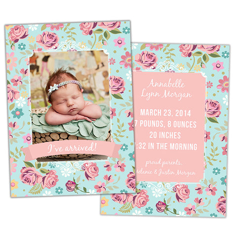 Birth Announcement | Rose Garden