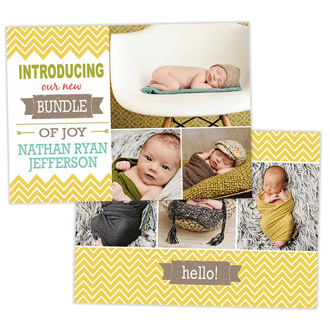 Birth Announcement | Bundle of Joy