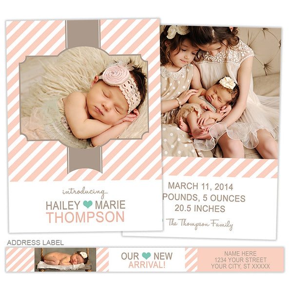 Birth Announcement | Shabby Chic