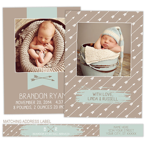 Birth Announcement | Banner & Arrow