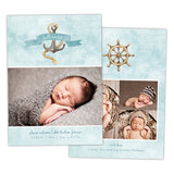 Birth Announcement | Blue Nautical