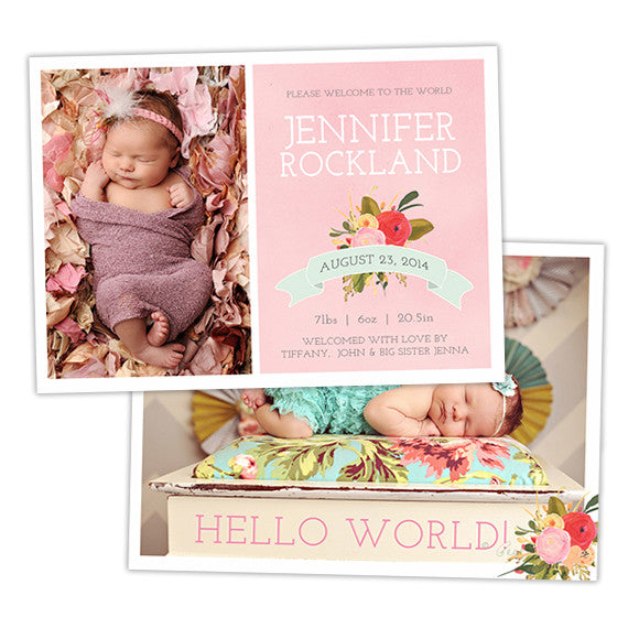 Birth Announcement | Country Roses
