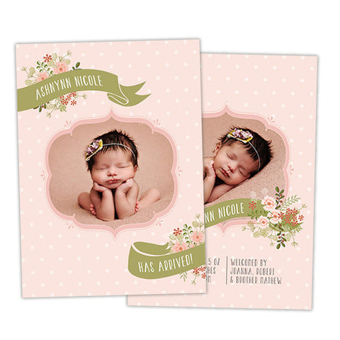 Birth Announcement | Pretty As A Flower