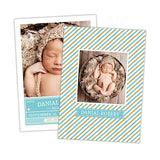 Striped Tag Birth Announcement