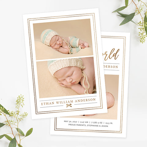 Birth Announcement | Sage
