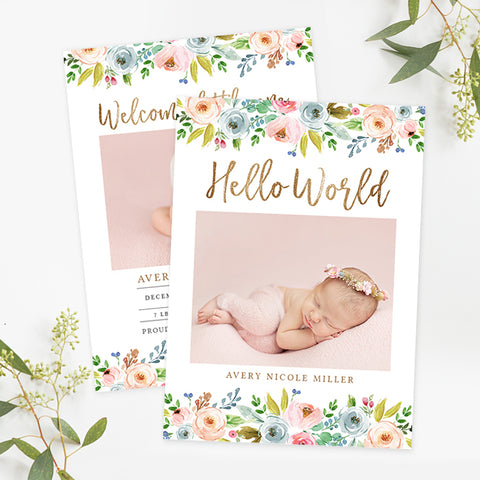 Birth Announcement | Hazel