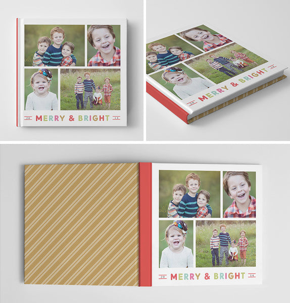 Holiday Book Album | Merry & Bright