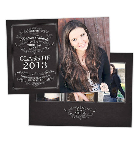 Grad Announcement | Chalkboard