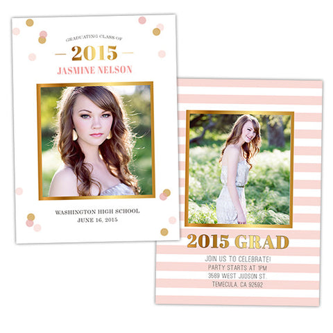 Grad Announcement | Confetti