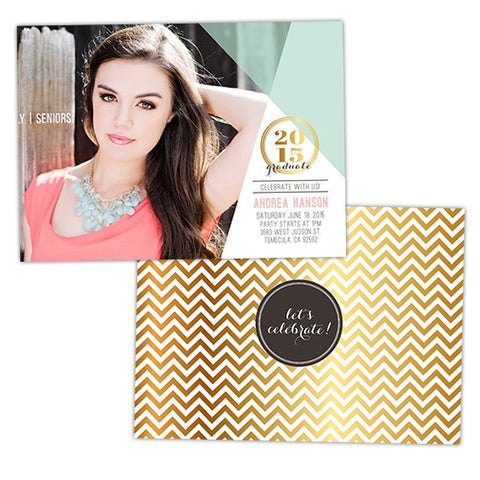 Grad Announcement | Chic Chevron