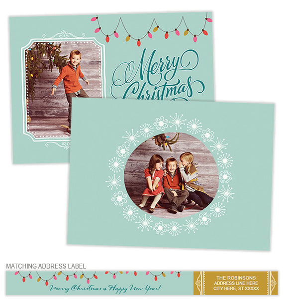 Christmas Lights Photo Cards