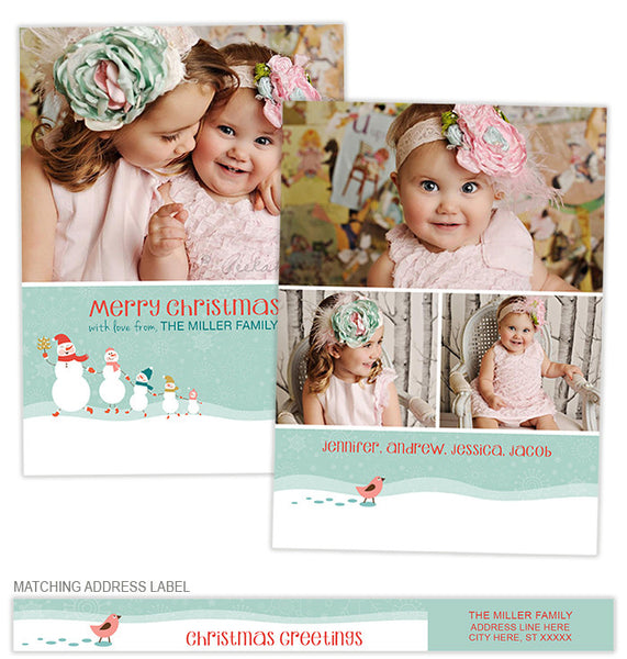 Snow Much Fun Photo Card