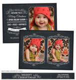 Ornate Chalkboard Photo Card