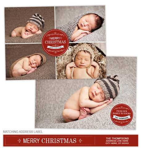 Christmas Label Photo Card