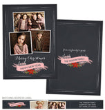 Chalkboard Banner Photo Card