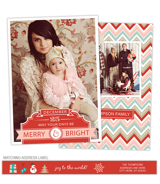 Merry & Bright Photo Card