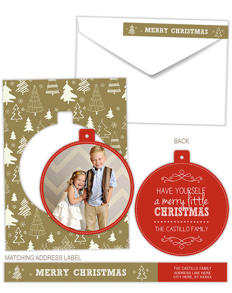 Luxe Pop Card | Christmas Trees