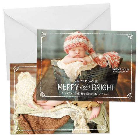 Holiday Photo Card | Christmas Overlay