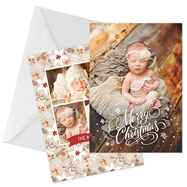 Holiday Photo Card | Christmas Calligraphy