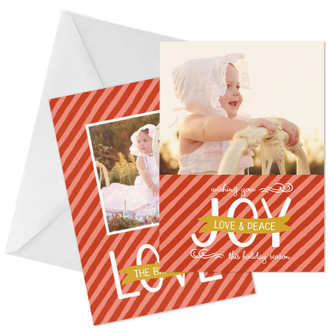 Holiday Photo Card | Love & Joy