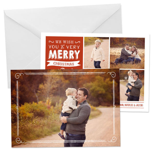 Holiday Photo Card | Typography