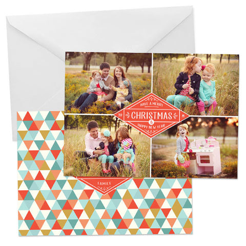 Holiday Photo Card | Christmas Label