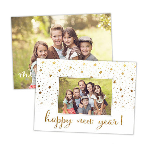 Christmas Photo Card | Gold Christmas