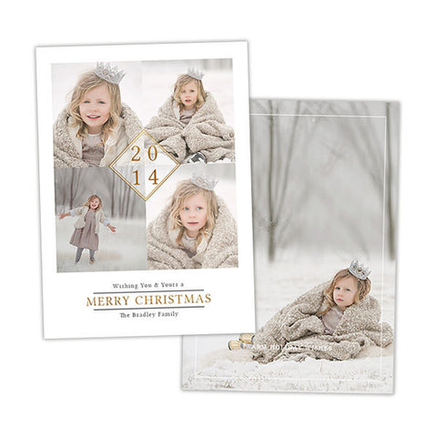Christmas Photo Card | Gold Diamond