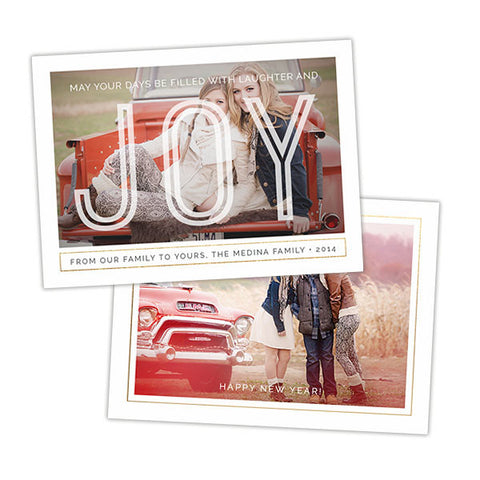 Holiday Photo Card | Laughter & Joy