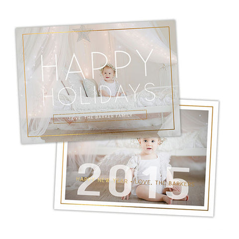 Holiday Photo Card | Happy Holidays + New Year