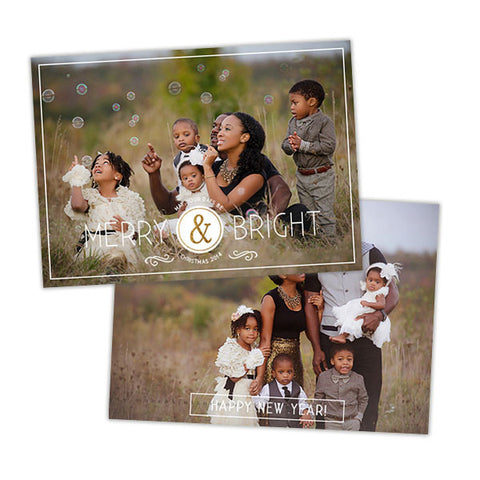 Holiday Photo Card | Clean Merry & Bright