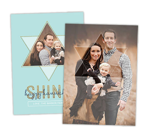Hanukkah Photo Card | Shine