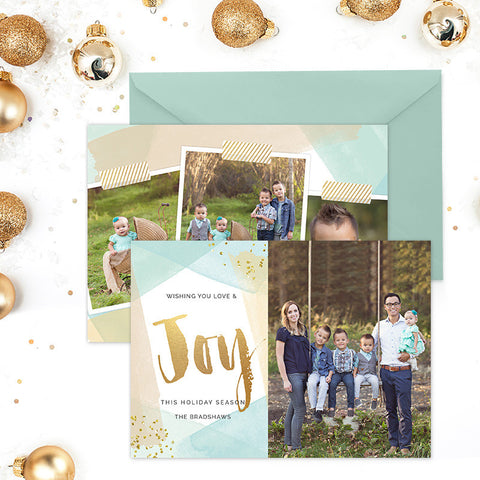 Holiday Photo Card | Wishing Love & Joy