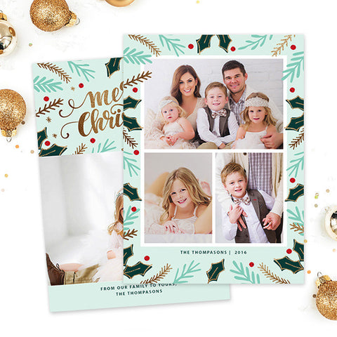 Christmas Card | Merry Mistletoe