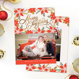 Christmas Card | Poinsettias