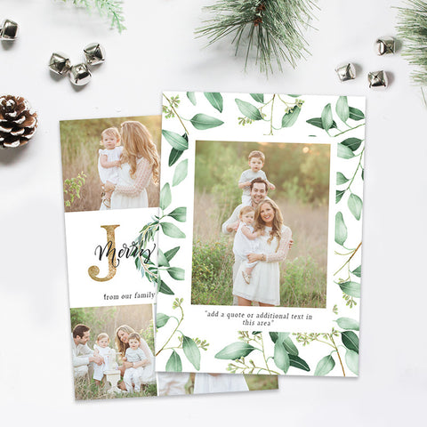Christmas Card | Emerald & Gold