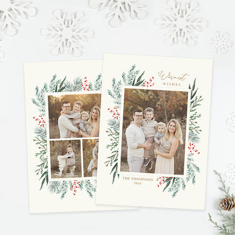 Holiday Card | Winter Greens