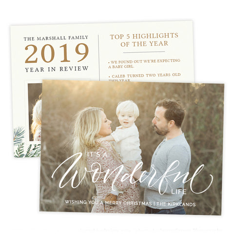Holiday Card | Wonderful Life