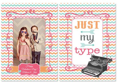 Valentine's Photo Card | Just My Type