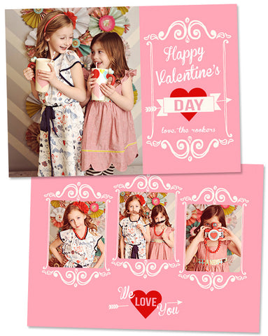 Valentine's Photo Card | We Love You