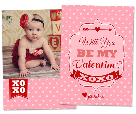 Valentine's Photo Card | Love Struck